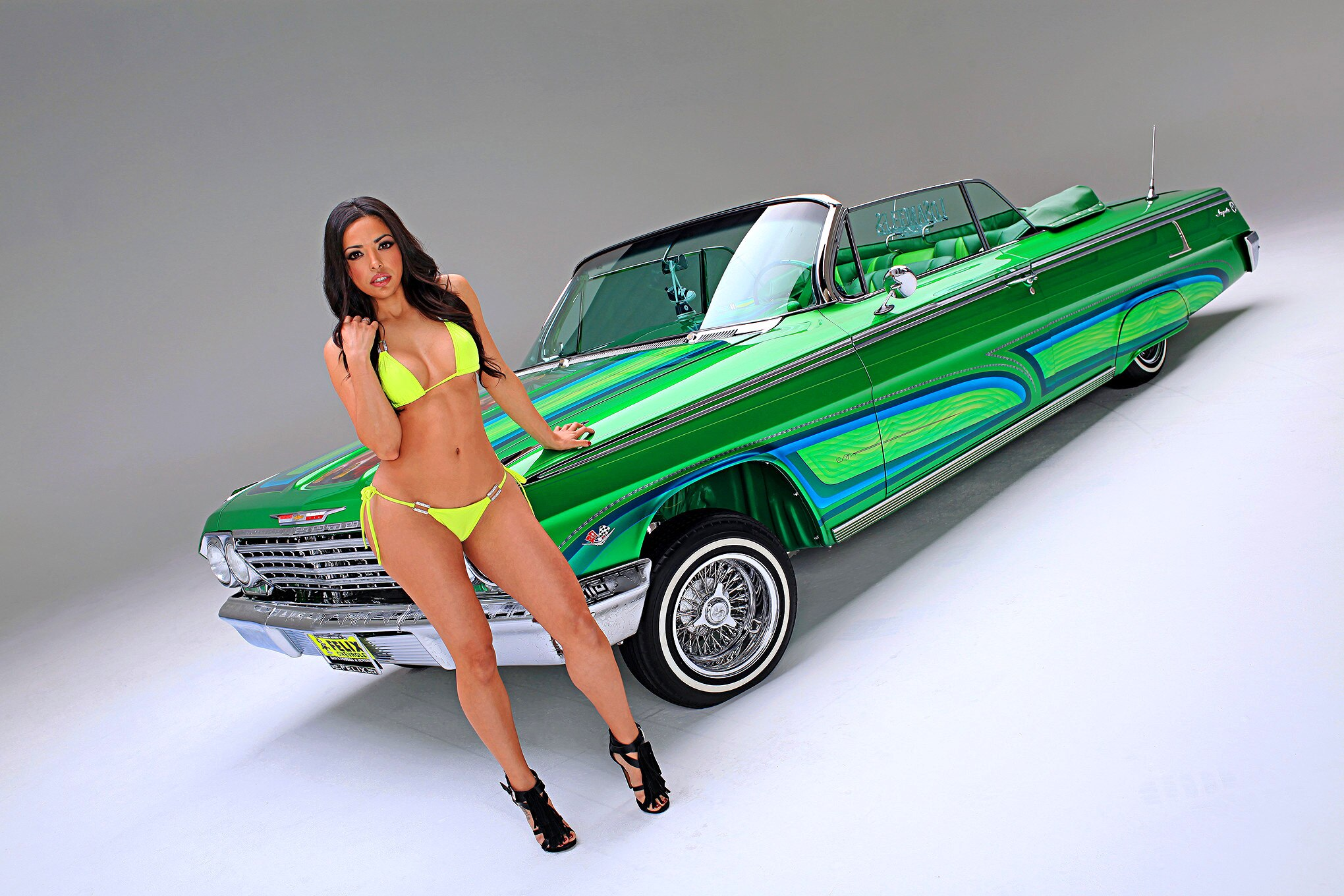Lowriders and naked girls