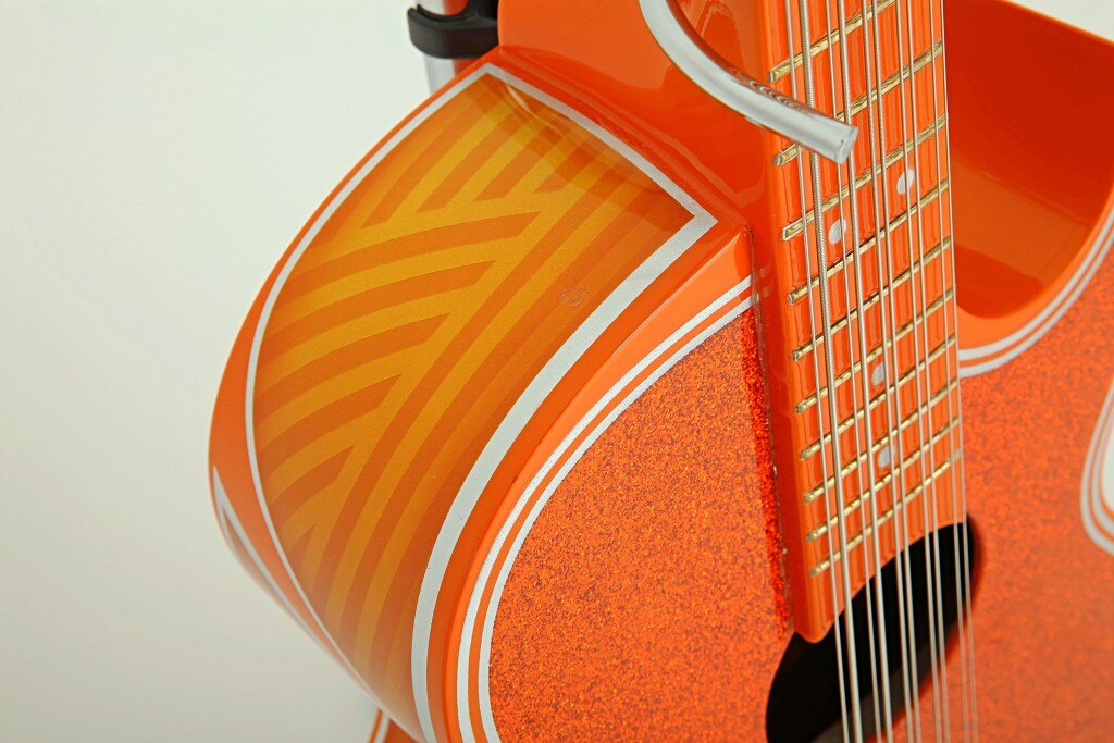 konnected lowrider magazine fortaleza guitar orange top