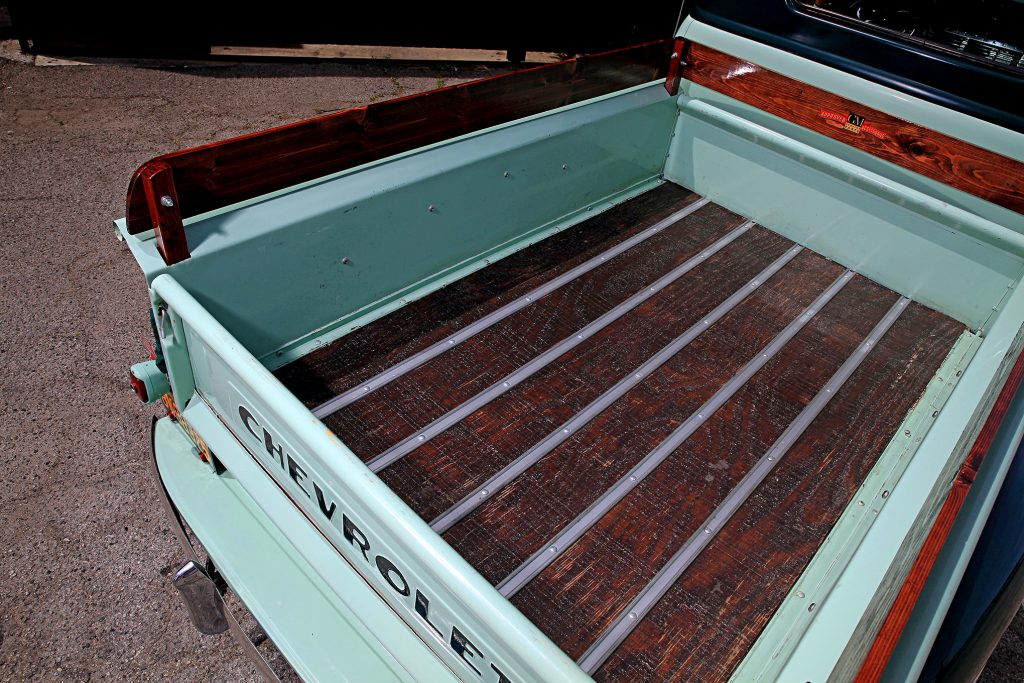 1951 chevrolet 3100 step side truck wood panel bed