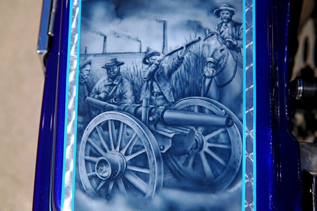 2000 harley davidson road king canon revolucion mural