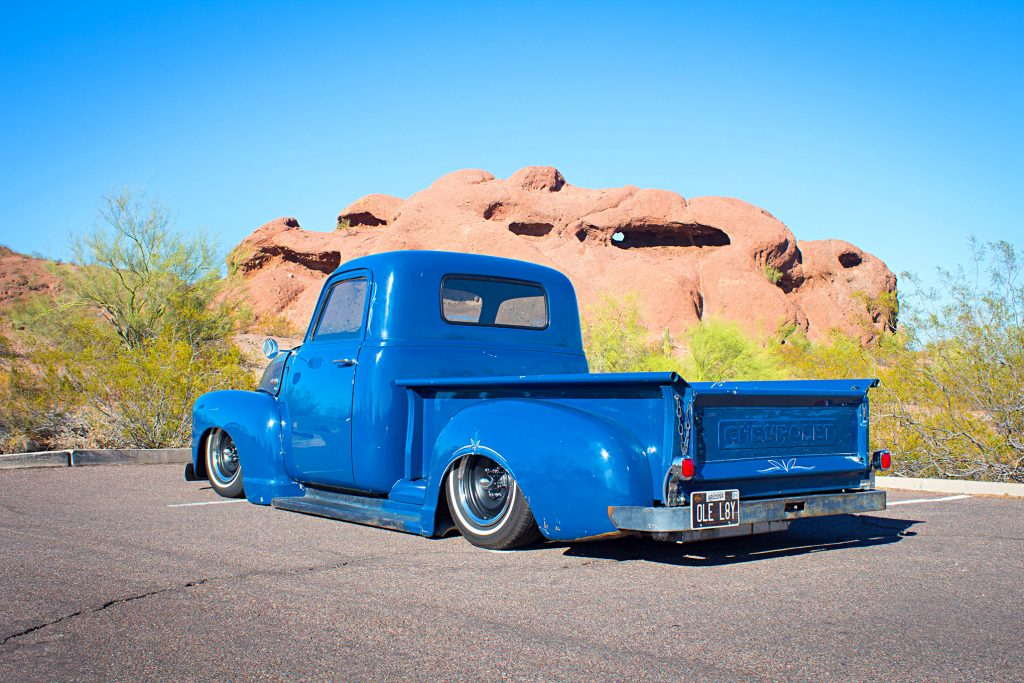 1950 chevrolet 3100 driver side rear quarter view