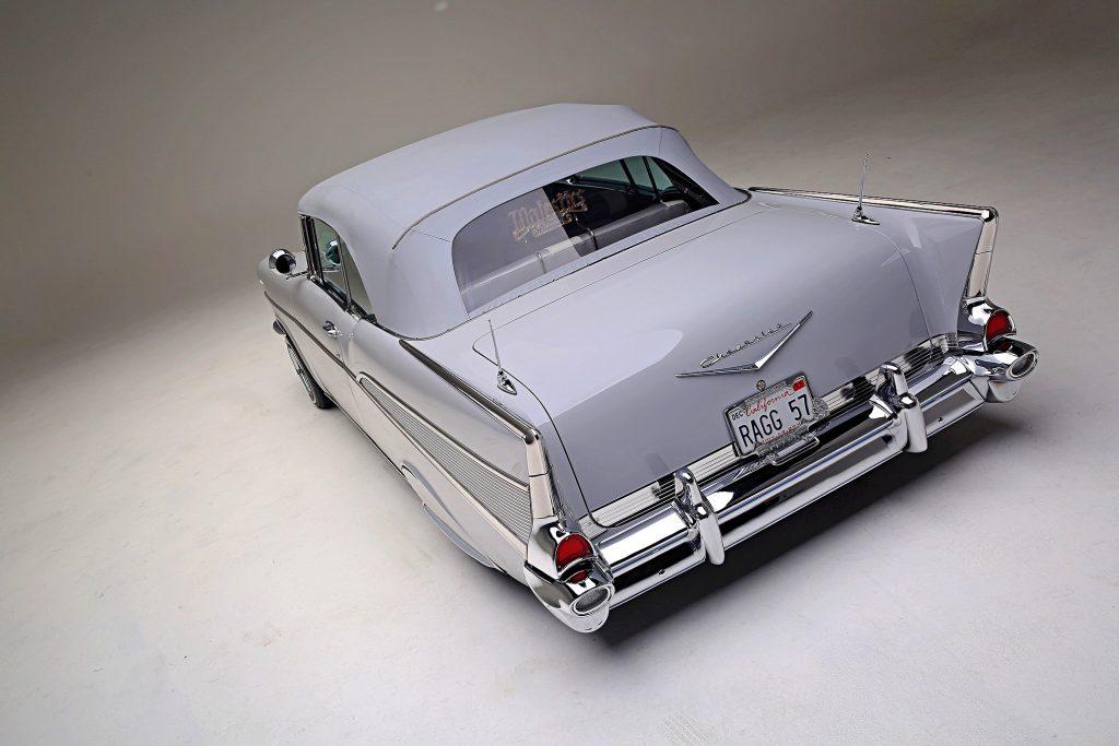 1957 chevrolet bel air convertible rear trunk up