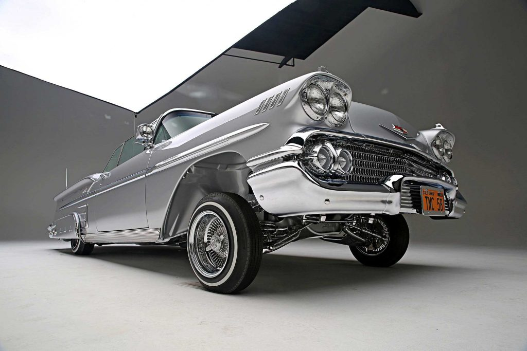 1958 chevrolet impala convertible low front locked up
