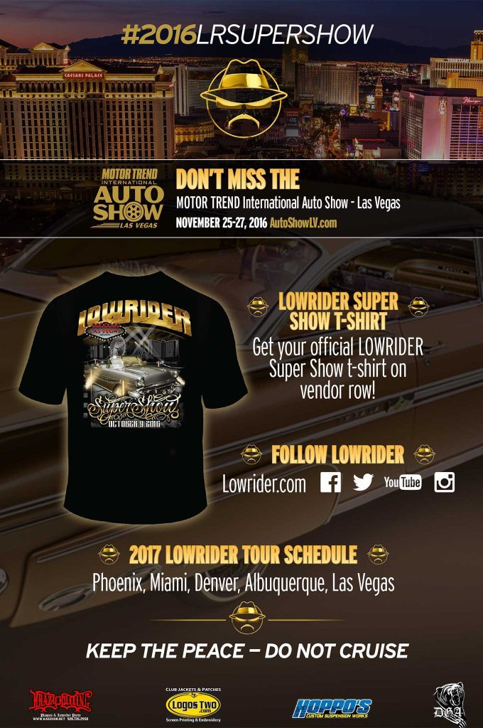 2016 lowrider las vegas super show 2016 t shirt