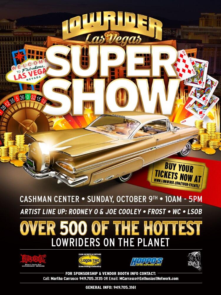 2016 lowrider las vegas super show flyer