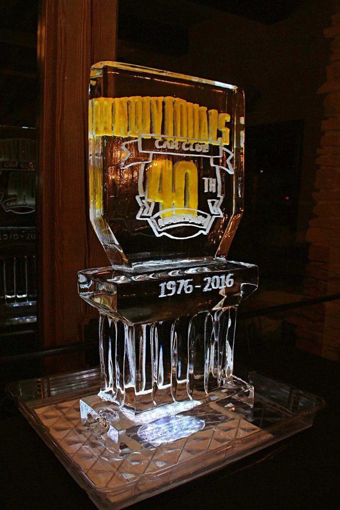 individuals car club 40th anniversary ice sculpture