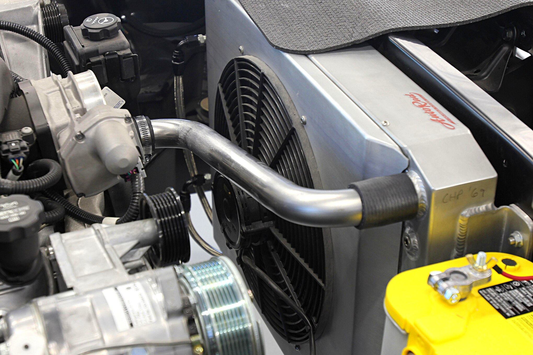 How to make custom coolant lines using exhaust tubing