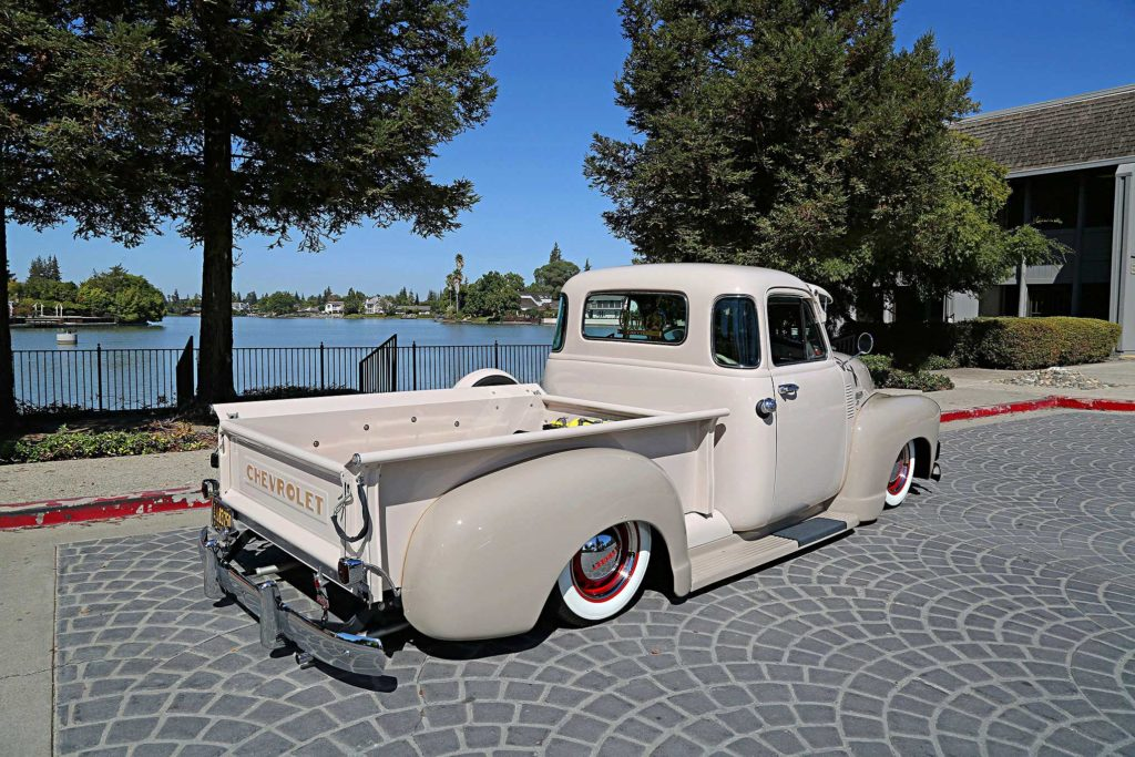 1952 chevrolet 3100 rear passenger side three quarter view