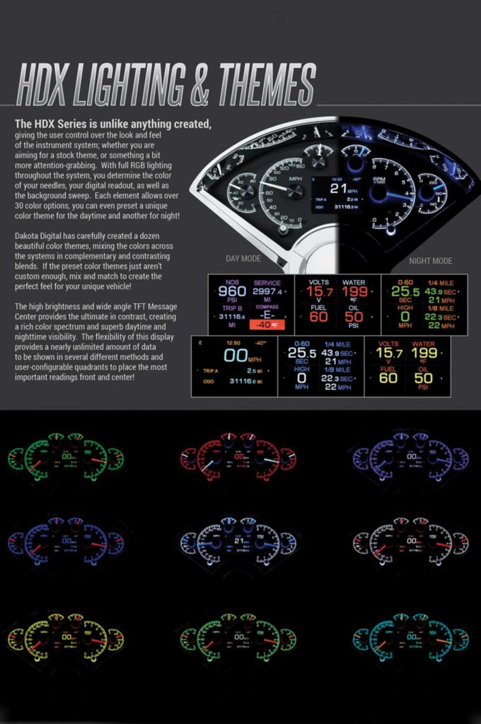 dakota digital hdx system hd lighting and themes