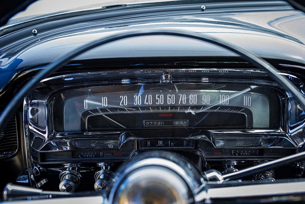 1955 big body cadillac speedometer