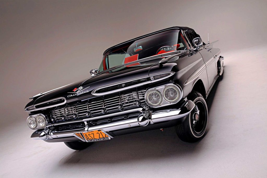 1959 chevrolet impala convertible front grill