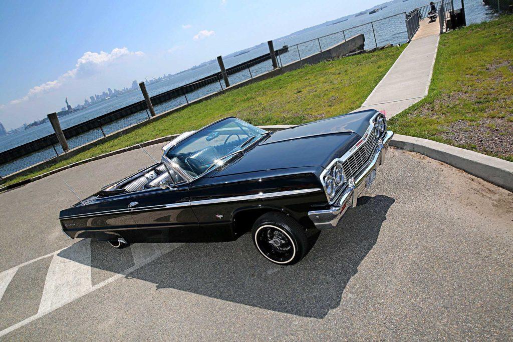 1964 chevrolet impala super sport convertible passenger side front view
