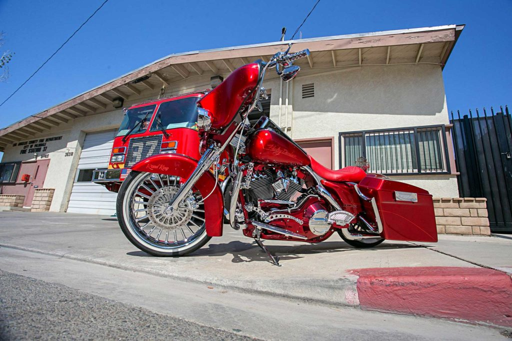 2005 harley davidson road king house of kolor candy apple red