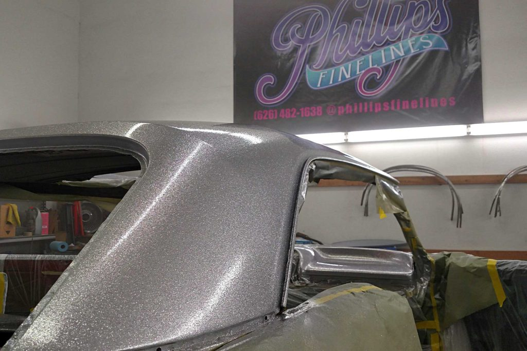 california funks custom paintjob 64 impala roof pillar