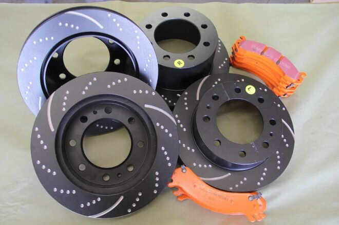 ebc brakes slotted rotors kit