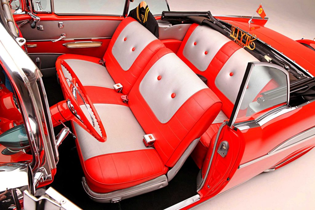 1957 chevrolet bel air convertible bench seats