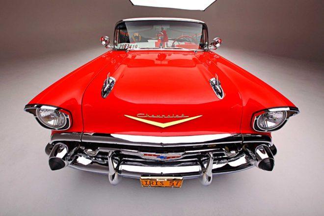 1957 chevrolet bel air convertible front fascia