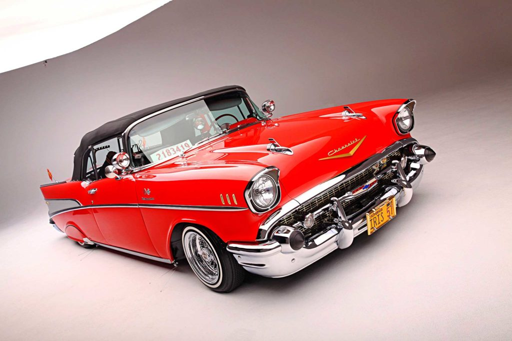 1957 chevrolet bel air convertible front three quarter