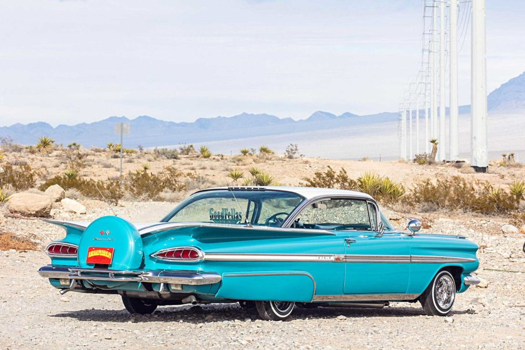 1959 chevrolet impala rear passenger side view