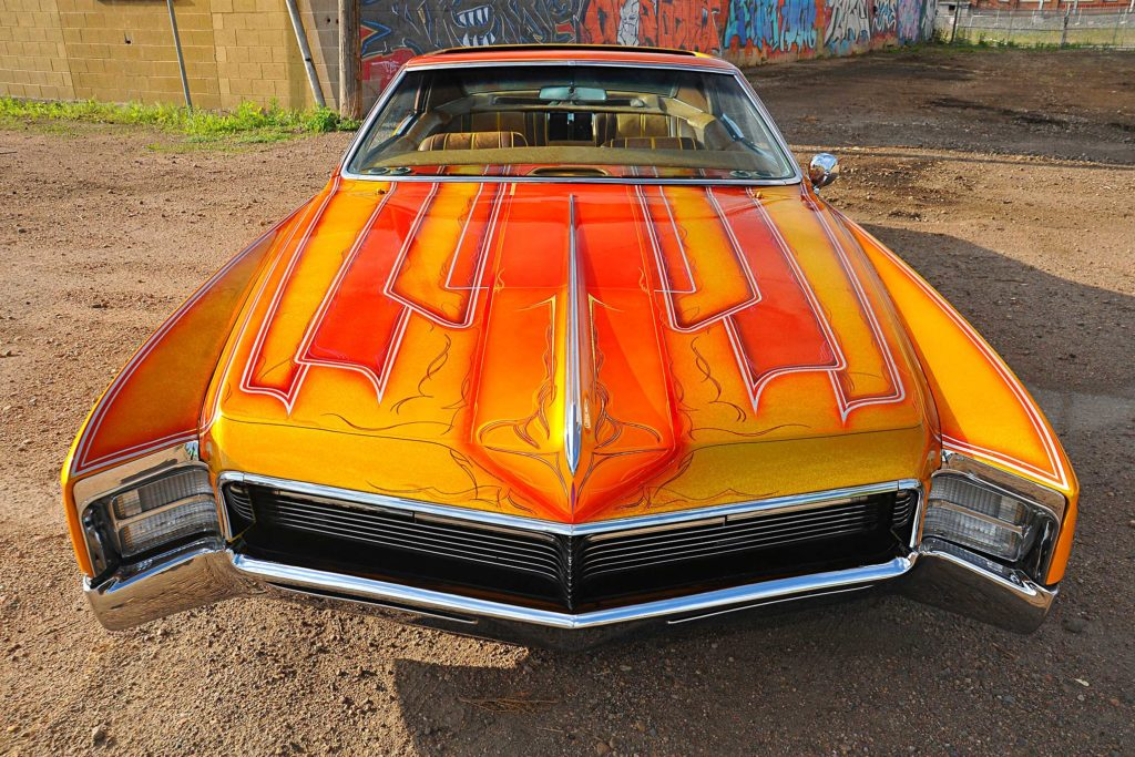 1967 buick riviera front hood graphics