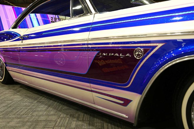 custom paintjobs of the 2017 grand national roadster show impala door panel graphics