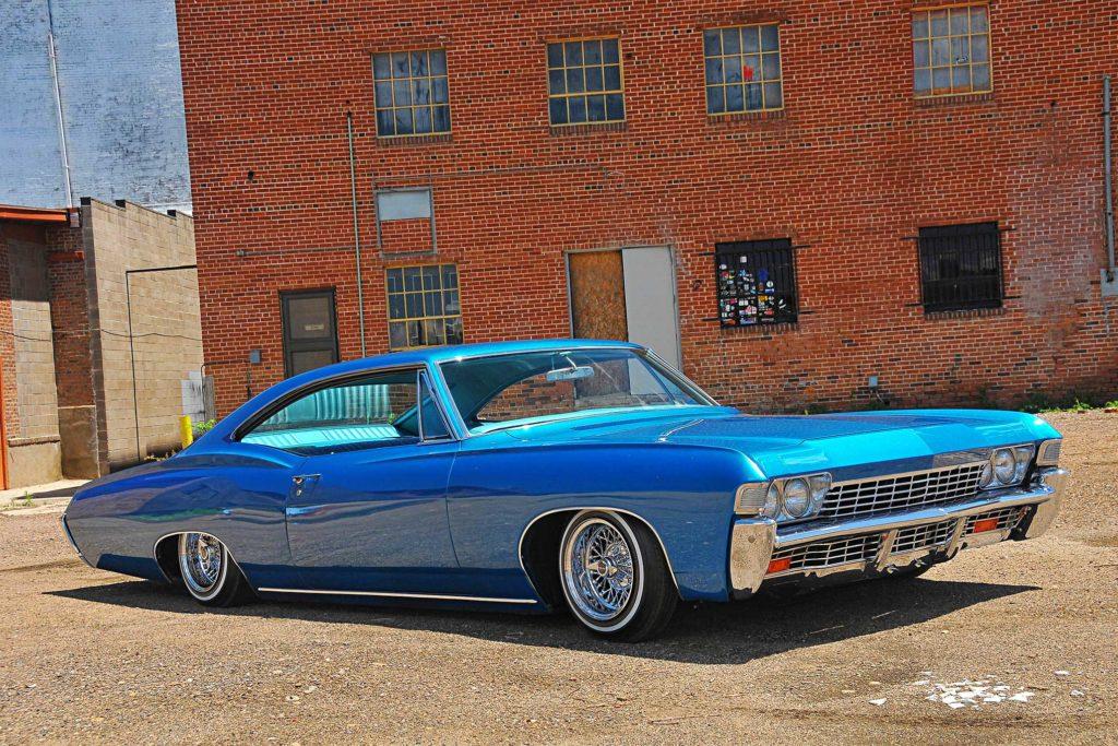1968 chevrolet impala laid out blue