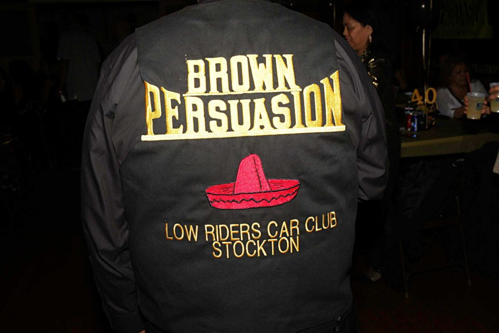 brown persuasion car club 40th anniversary jacket