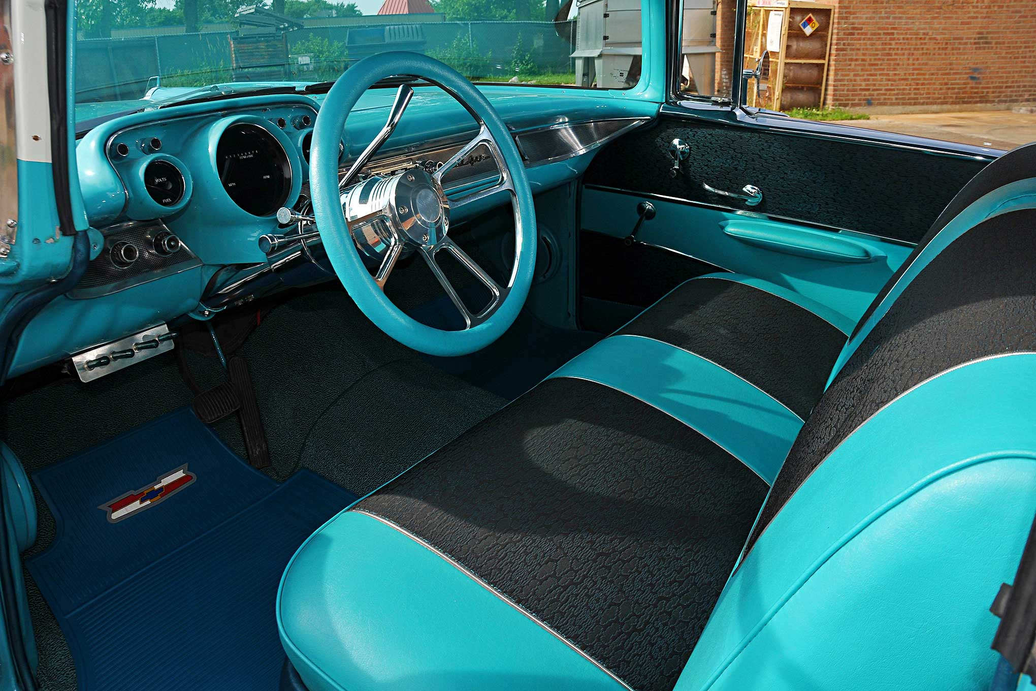 demond warfield 39 s 1957 chevy bel air the retirement. Black Bedroom Furniture Sets. Home Design Ideas