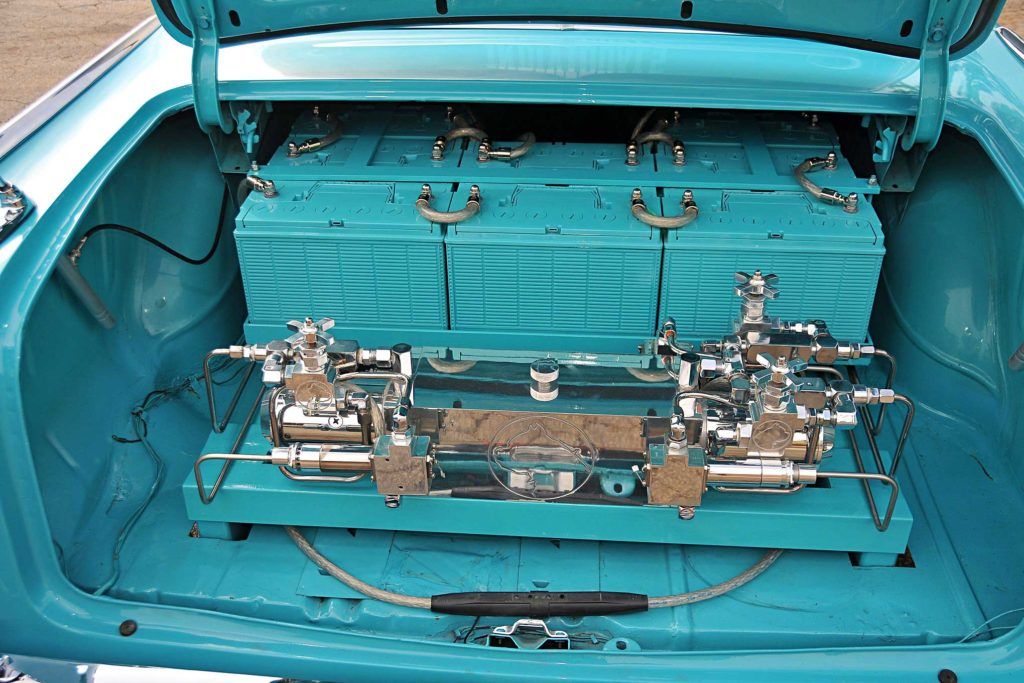 1957 chevrolet bel air pitbull hydraulic setup