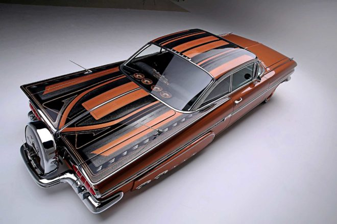1959 chevrolet impala top view wings
