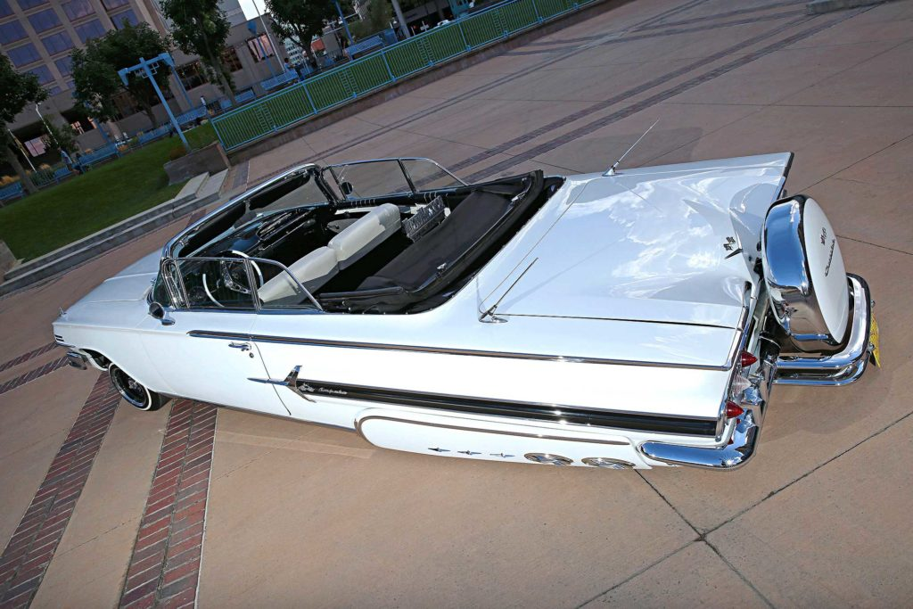 1960 chevrolet impala convertible top view