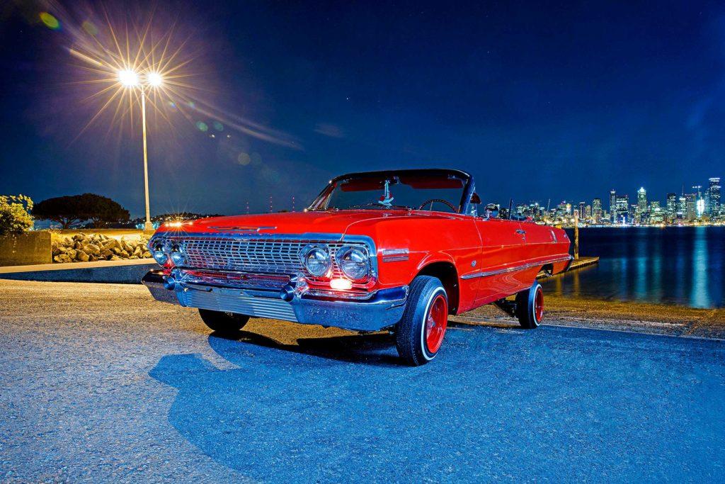 1963 chevrolet impala convertible front fascia