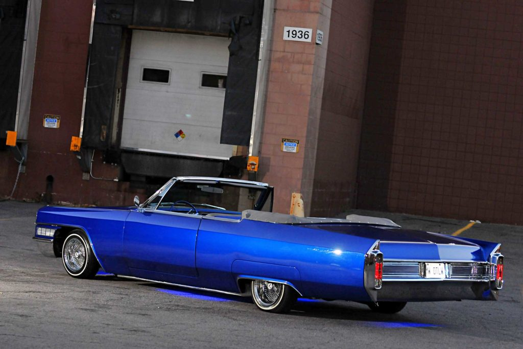 1965 cadillac coupe de ville driver side rear view