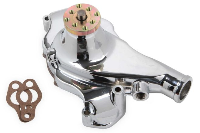 lowriders new products mr gasket chrome aluminum water pump