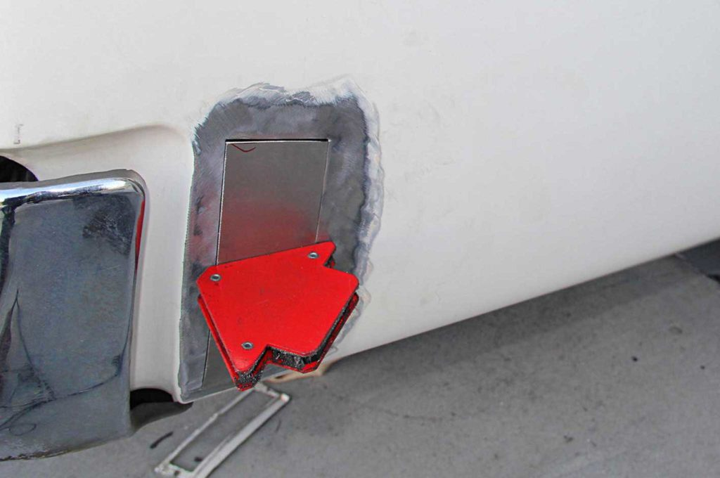 refining the fine lines of project riviera boat tail rear quarter panel metal patch