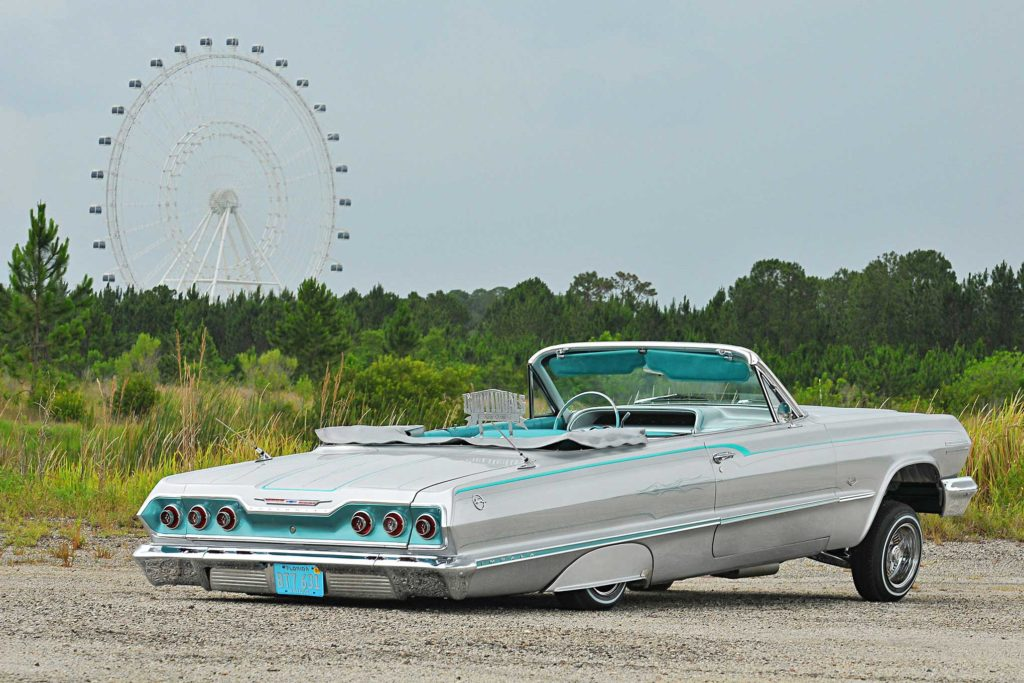 1963 Chevrolet Impala Convertible Back Laid Out