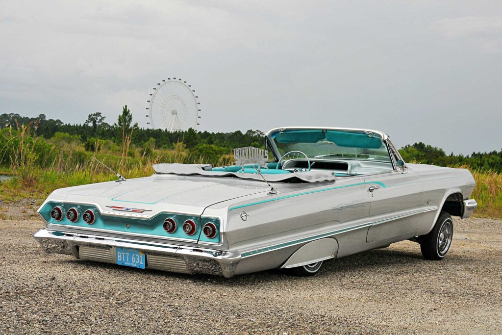 1963 Chevrolet Impala Convertible Passenger Side Rear View