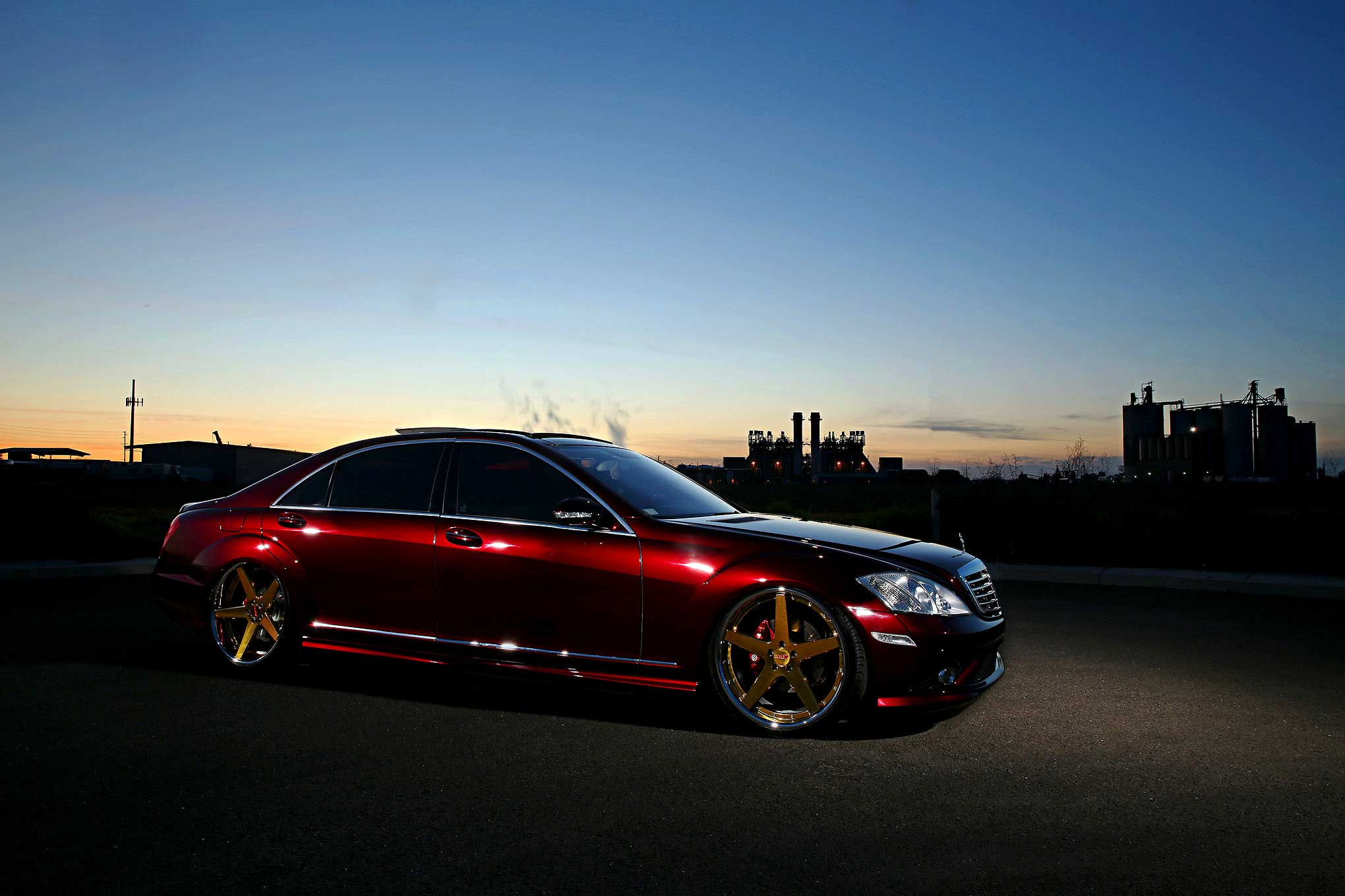 2009 Mercedes S550 50 Shades Of Candy