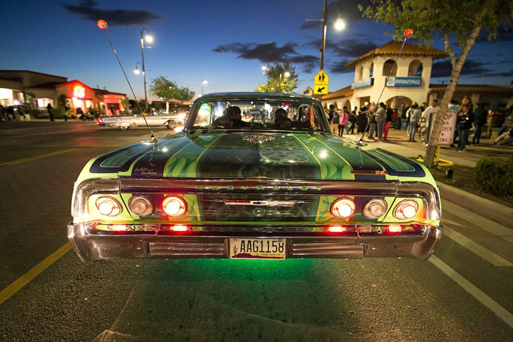 Sunday Cruise Arizona Green 1964 Impala Convertible