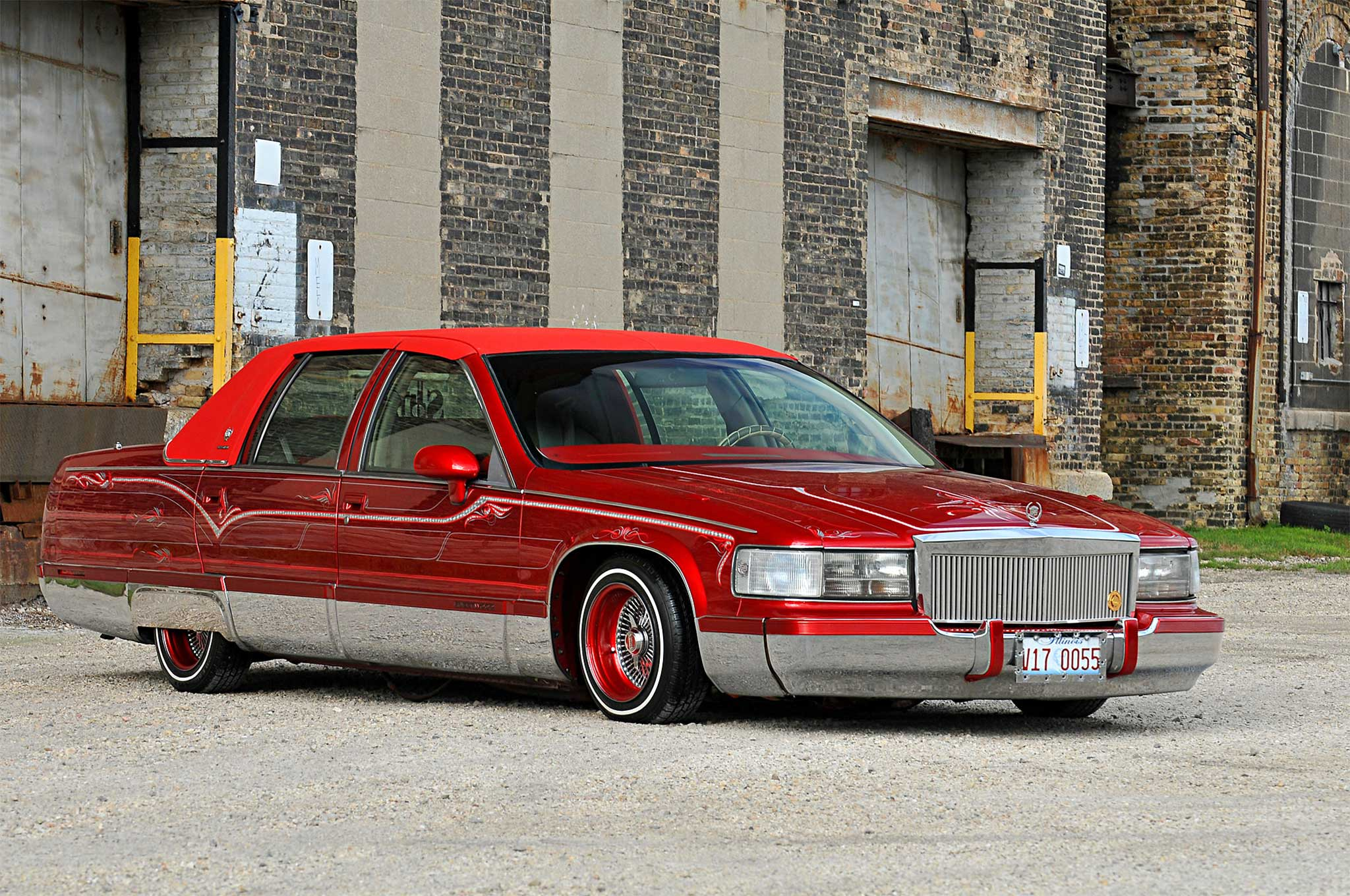 1994 Cadillac Fleetwood Passenger Side Front View 1 - Lowrider