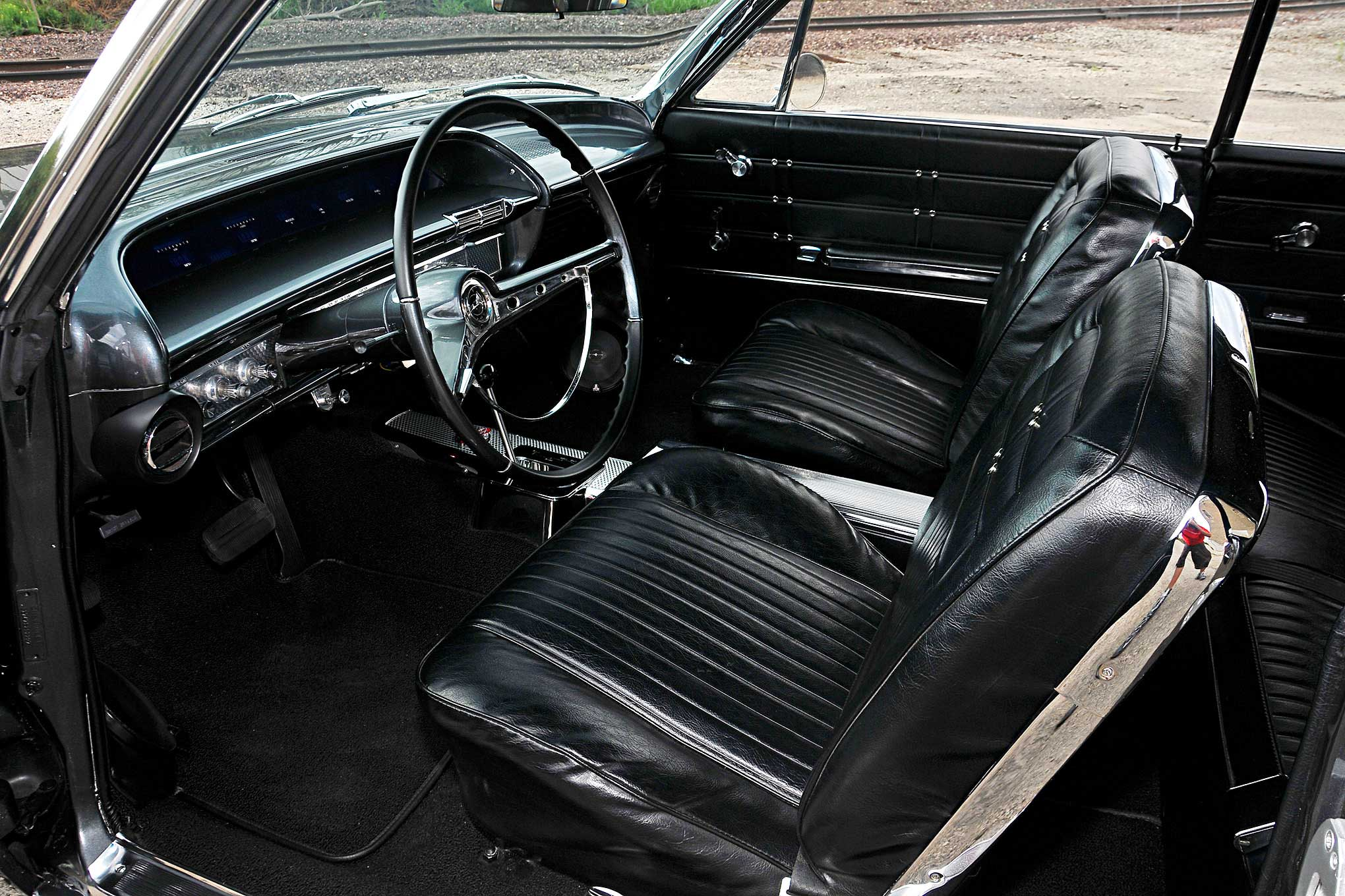 Chevy Impala Ss Interior Amazing Rear View With 1963 4 Door Sedan 283 Dash Wiring Harness W Fuse