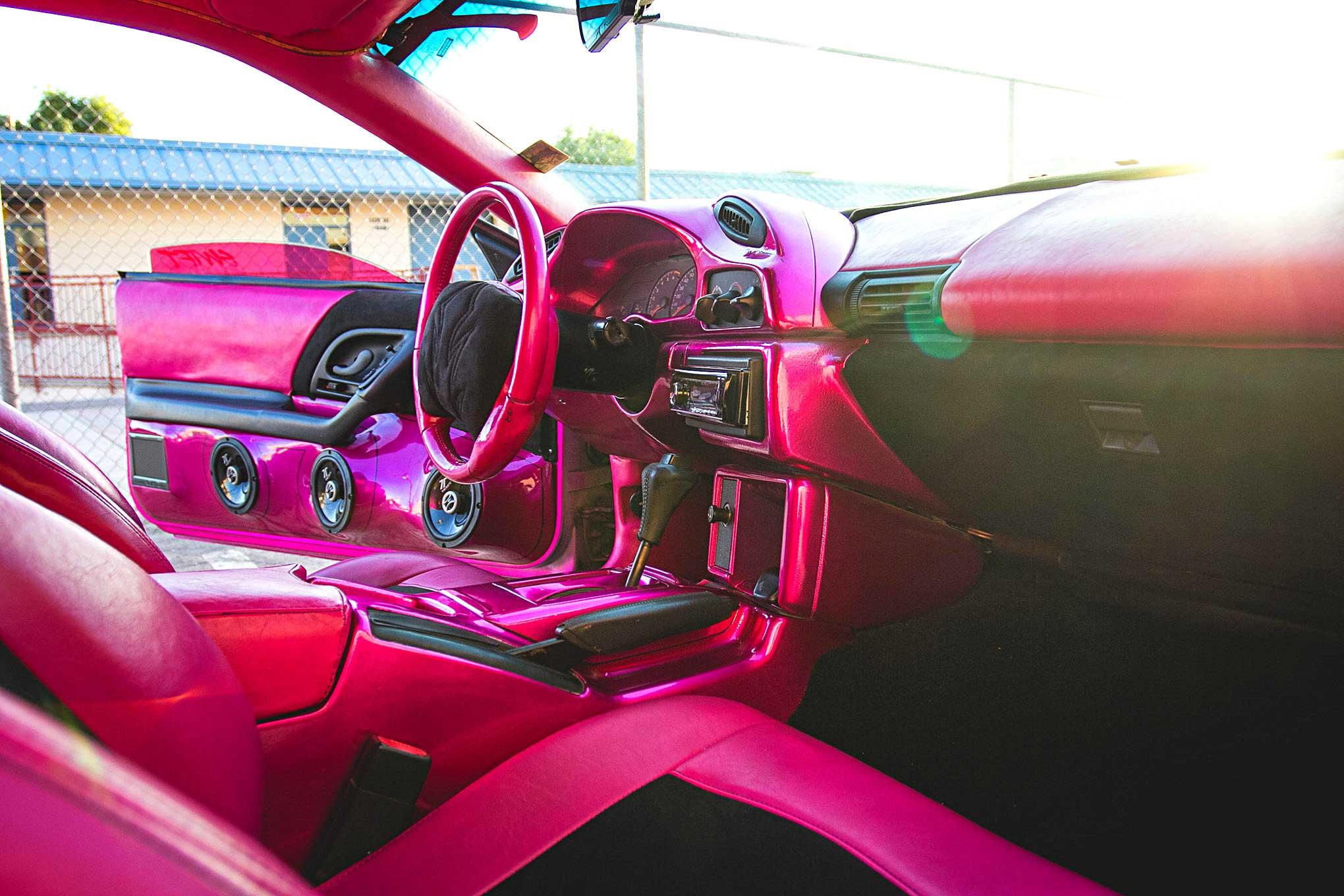 1995 Chevrolet Camaro Pink Vinyl Interior Lowrider