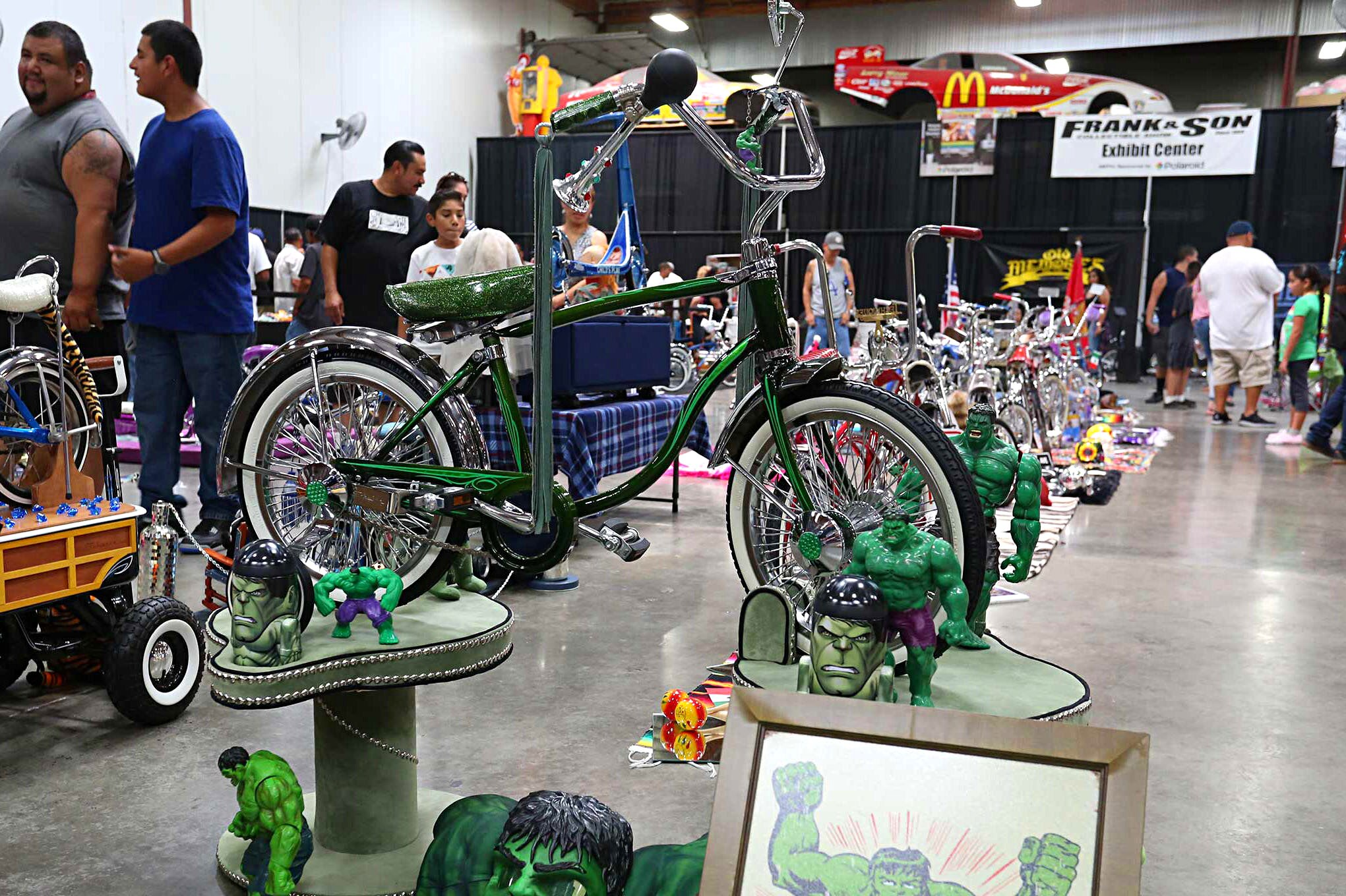 Caddy Fest 7 Bicycle Show Incredible Hulk Bicycle Lowrider