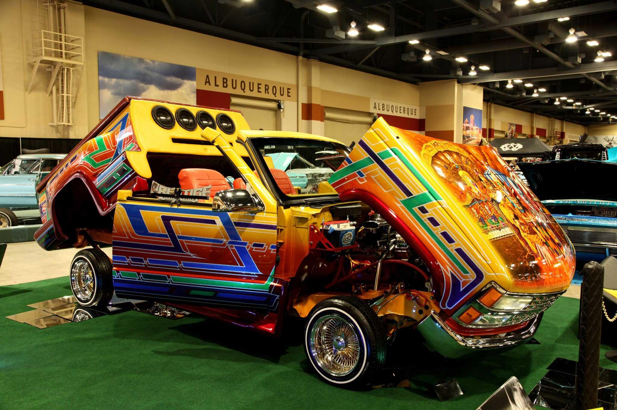 2017 lowrider albuquerque show custom chevy truck lowrider for Craft shows in albuquerque 2017