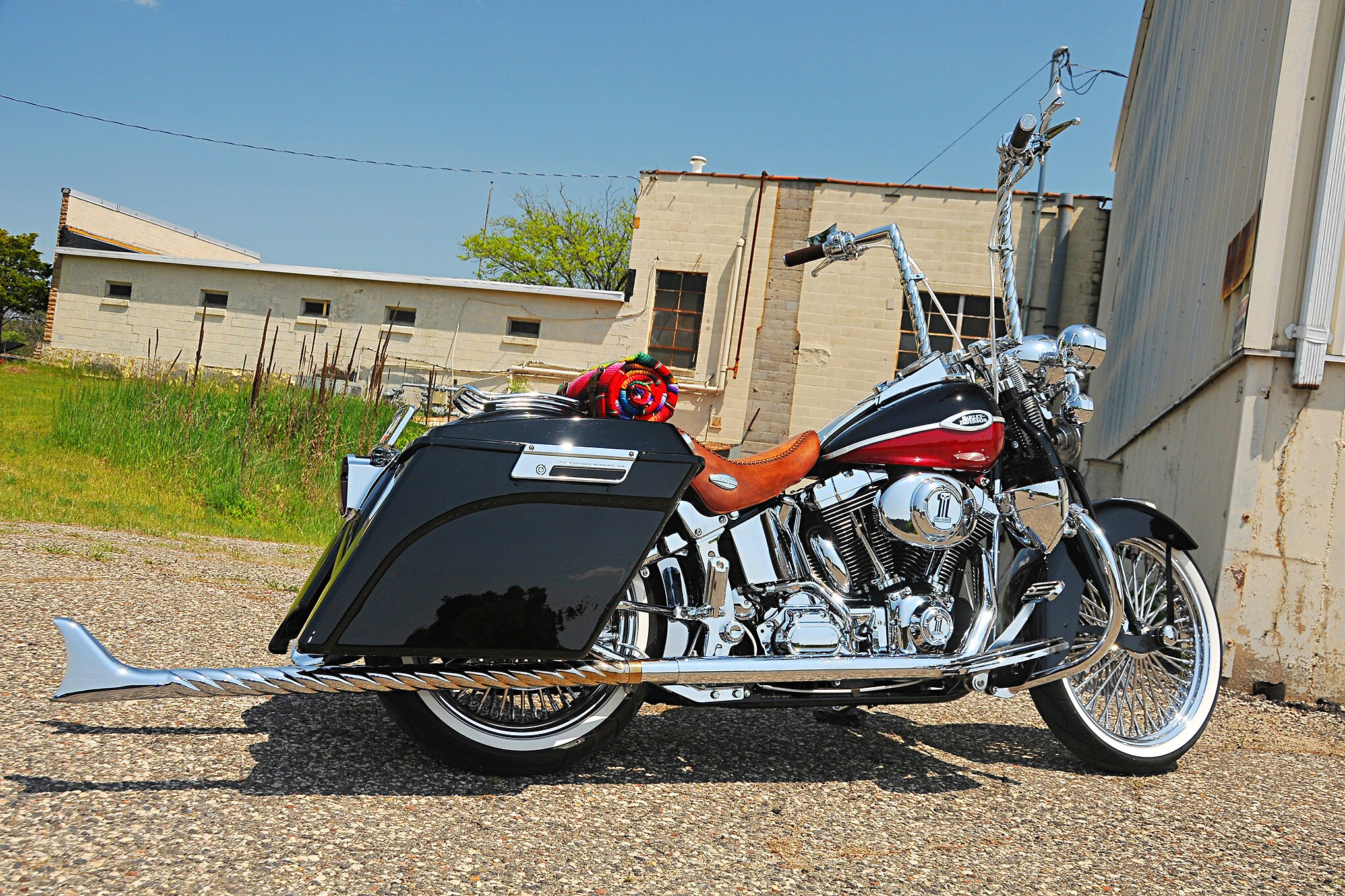 Harley Davidson Softail Springer Right on 2005 Buick Regal