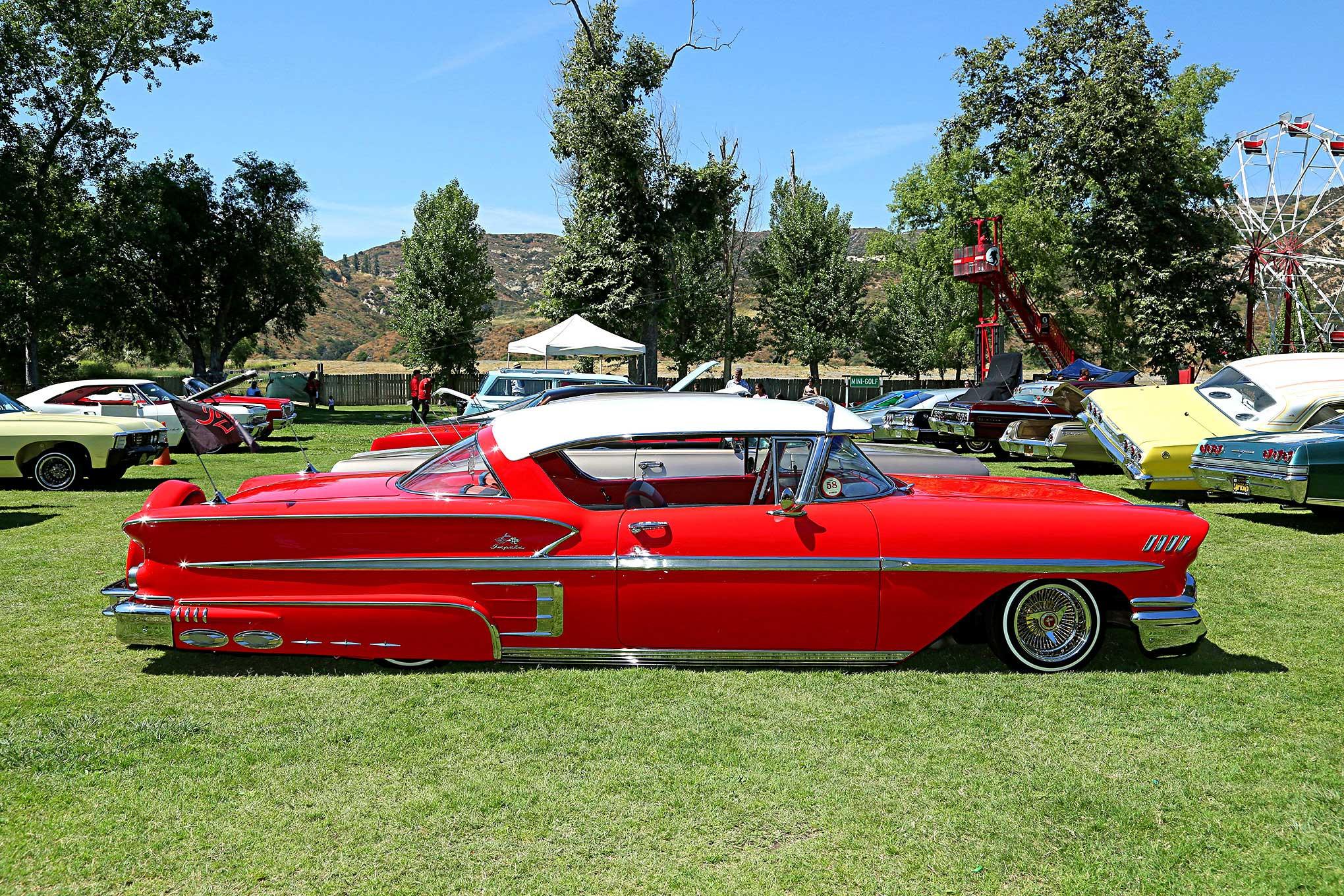 Impalas Car Club OC Chapter 2017 BBQ 1958 Impala - Lowrider