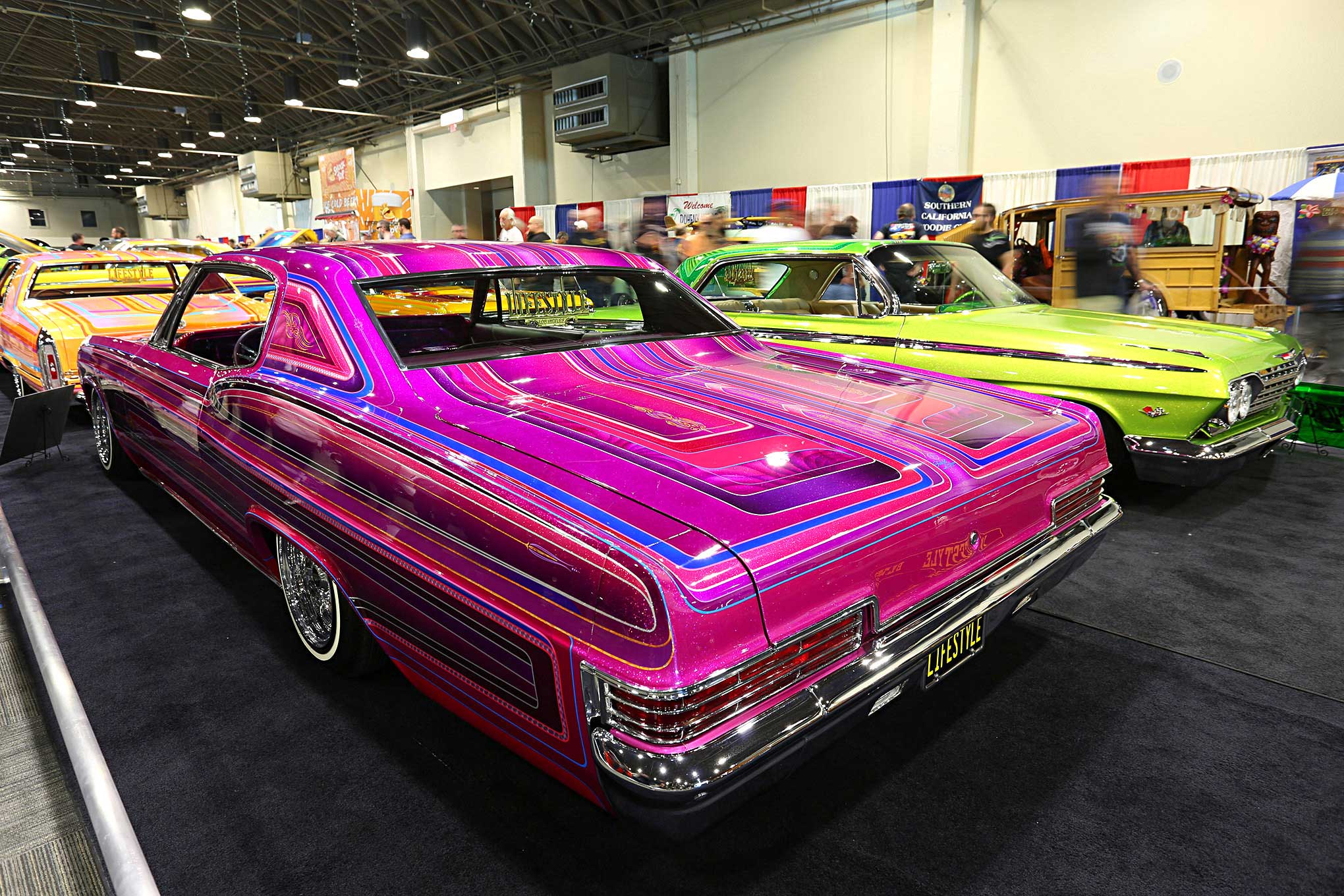 Custom paintjobs of the 2018 gnrs 1966 chevrolet impala for Car painting atlanta
