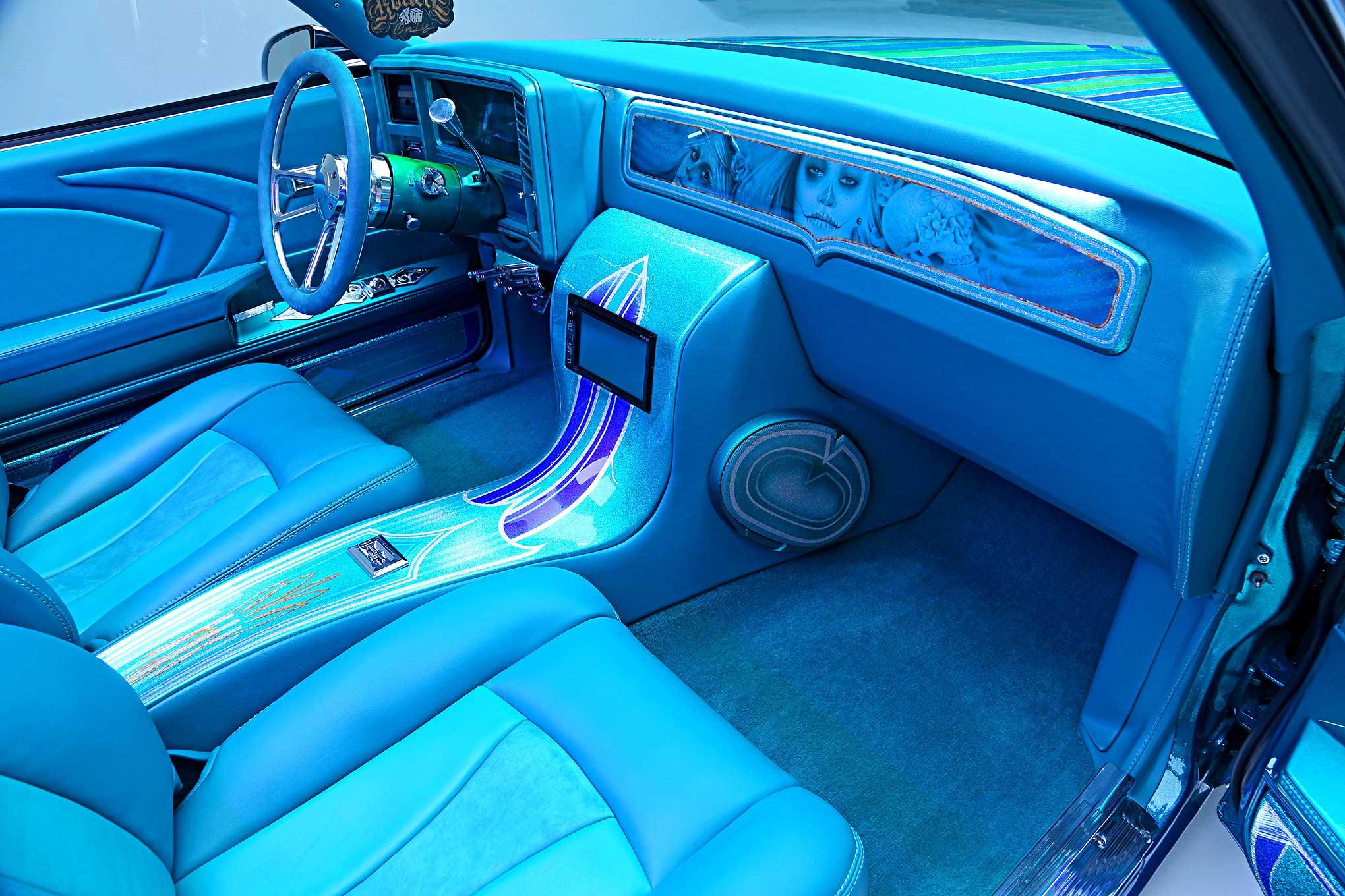 1979 Chevrolet Monte Carlo Custom Teal Interior Lowrider