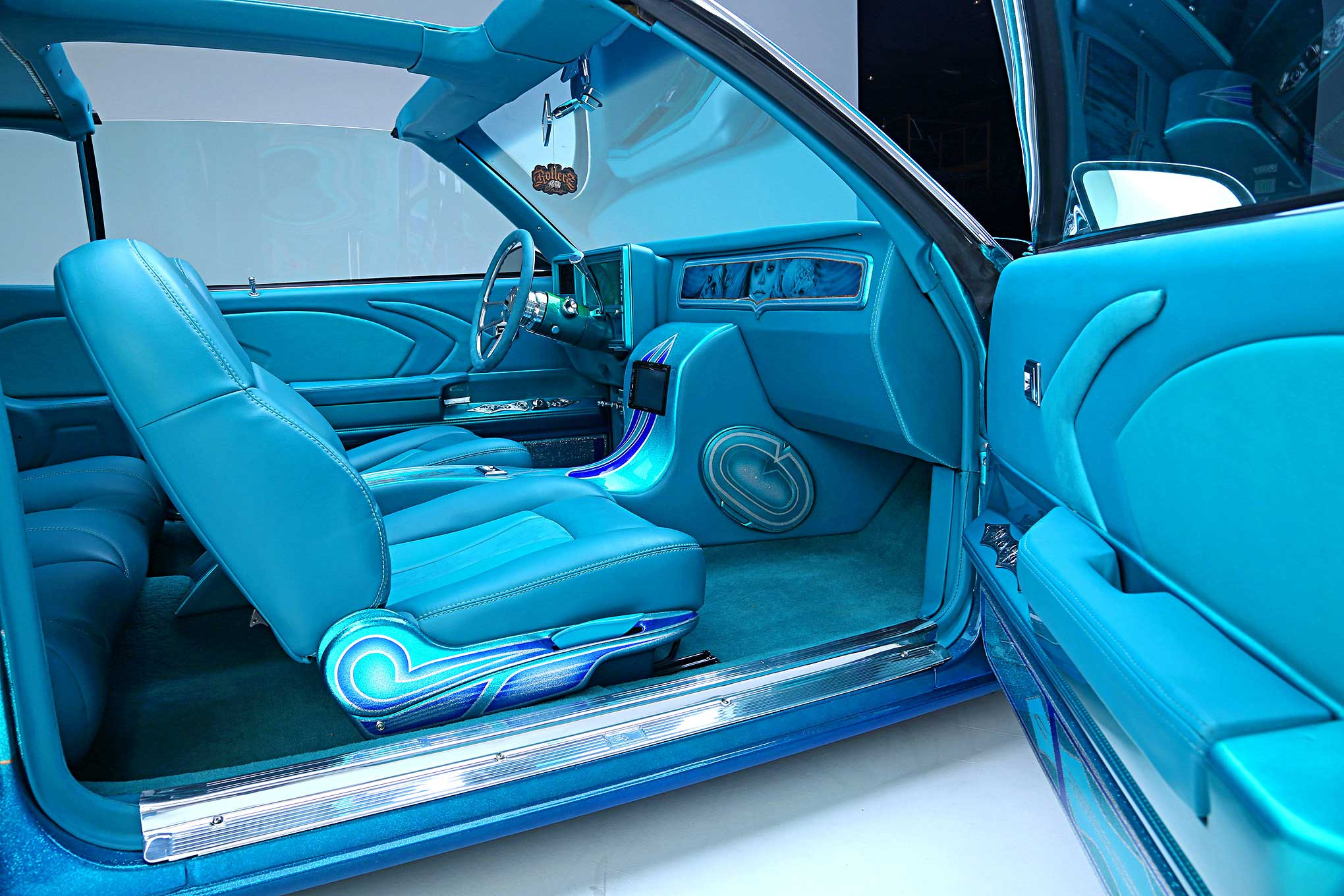 1979 Chevrolet Monte Carlo Teal Leather And Suede Interior Lowrider
