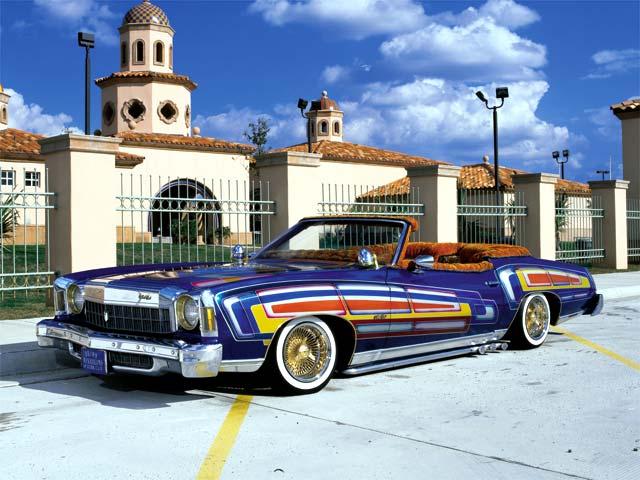 1975 Chevy Monte Carlo Blue Monte -- Lowrider Magazine